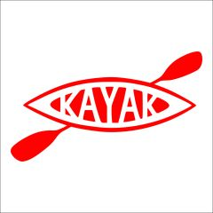 Kayak Vinyl Car Decal - Kayak Decal - Travel Michigan - Kayak Michigan - Kayak