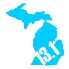 Michigan Run - MiRun - 13.1 Run - Running Decal
