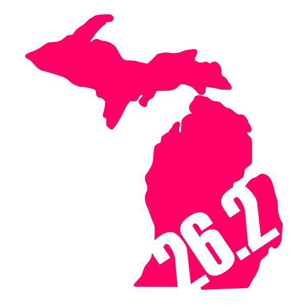 Michigan Run - MiRun - 26.2 Run - Running Decal