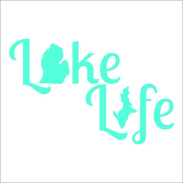 Lake Life Michigan Map Vinyl Car Decal