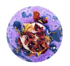 Black Amber & Lavender Fizzy Bath Donut