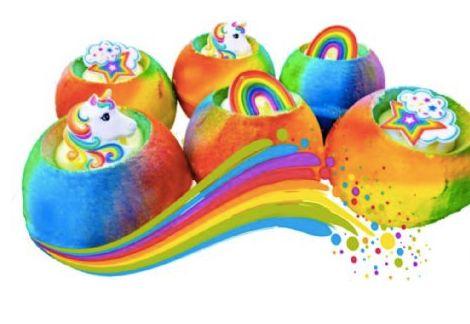 Unicorn Birthday Cake Mega Colour Streaming Fizzy Bomb
