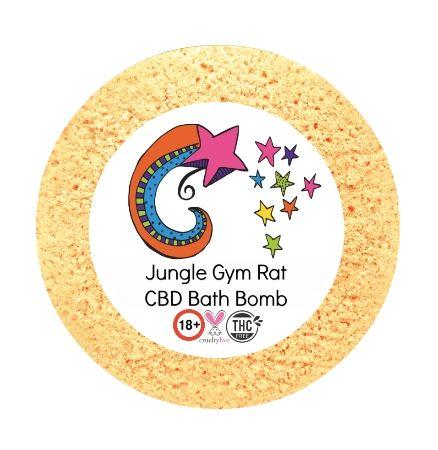Jungle Gym Rat CBD Bath Bomb 50mg VEGAN 180+gm (sports)