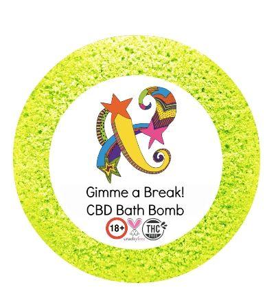 Gimme a Break! CBD Bath Bomb 50mg VEGAN 180+gm (Aches)
