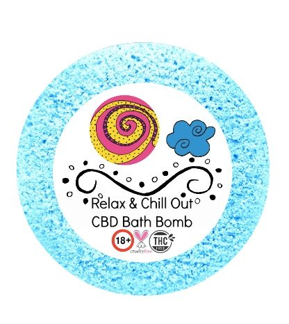 Relax & Chill Out Bath Bomb 50mg 180+gm (Relaxation) 💚🐰