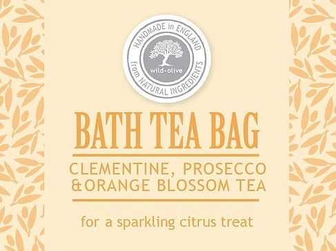 Clementine & Prosecco Bath Tea Bag