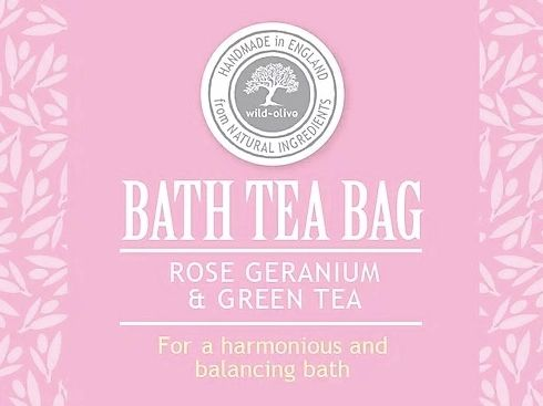 Rose Geranium and Green Tea Bath Tea Bag