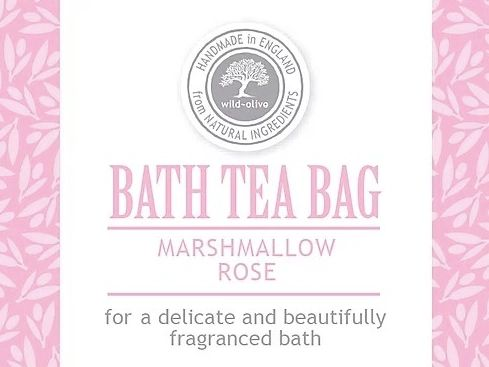 Marshmallow Rose Bath Tea Bag