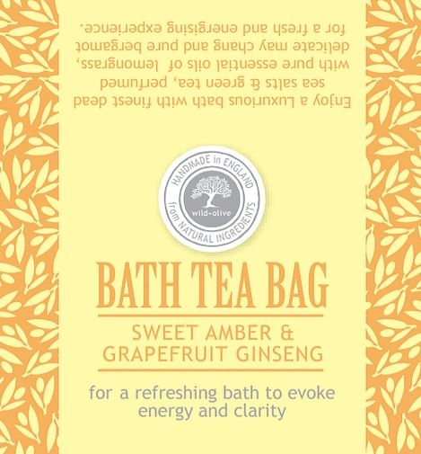 Sweet Amber & Grapefruit Ginseng Bath Tea Bag