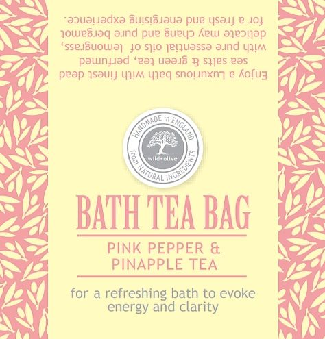 Pink Pepper & Pineapple Bath Tea Bag