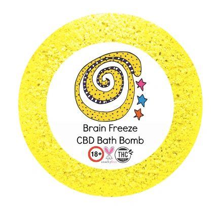 Brain Freeze CBD Bath Bomb 25mg VEGAN 180+gm (migraine) 💚🐰