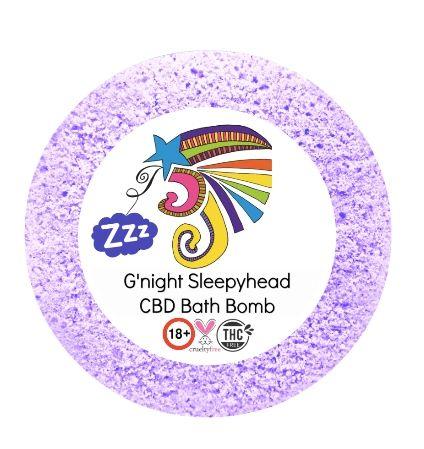 G'Night Sleepyhead CBD Bath Bomb 25mg VEGAN 180+gm (sleep) 💚🐰