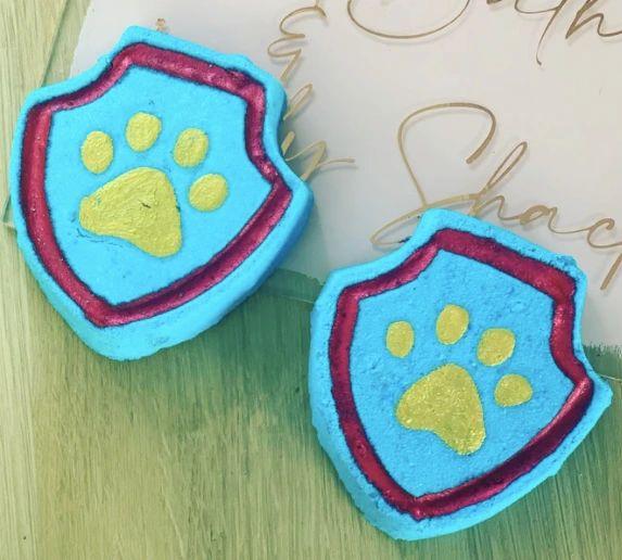 Paw Badge Bath Bomb (Jelly Bean)