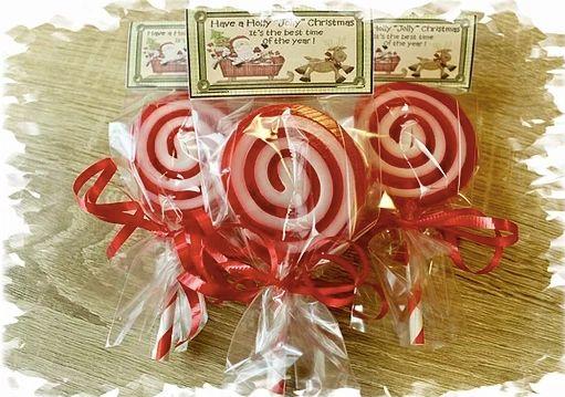 Candy Cane Peppermint Soap Lollipop