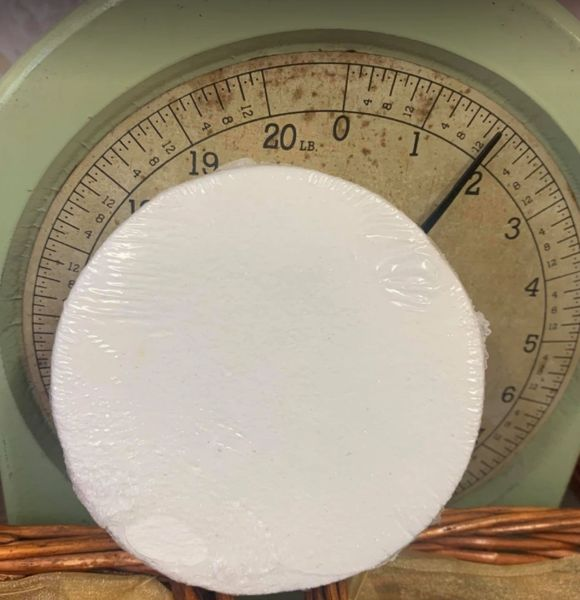 White Round Colour Streaming Bath Bomb