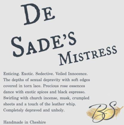 De Sade's Mistress Luxury Soy Wax Melt 30hr