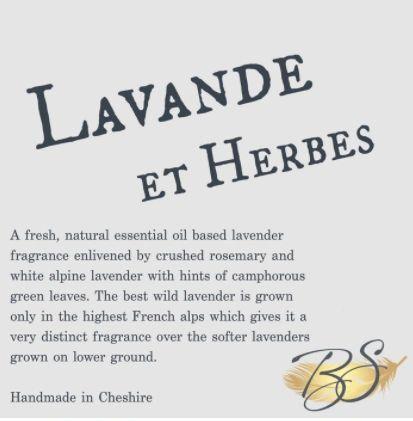 Lavande Et Herbes Luxury Soy Wax Tart 30hr