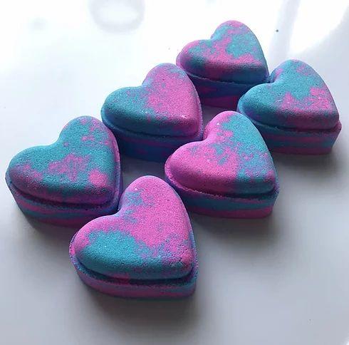 Baby Powder Love Hearts Bath Bomb