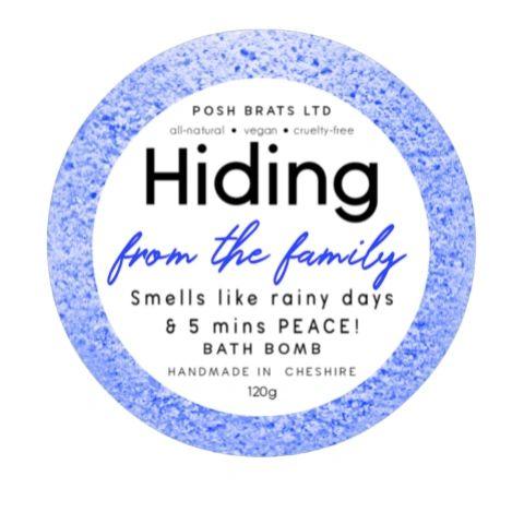 Hiding from the Family Bath Bomb
