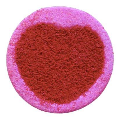 Bleeding Heart Colour Streaming Bath Bomb