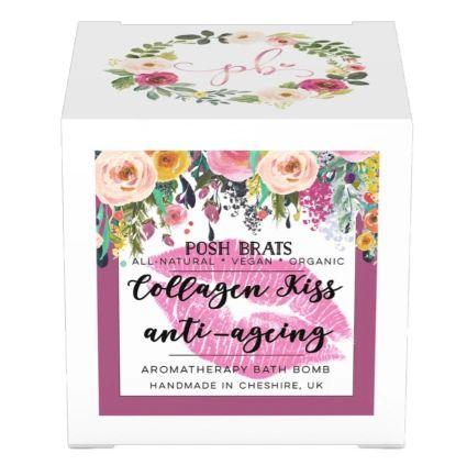 Collagen Kiss Anti-Ageing Aromatherapy Bath Bomb