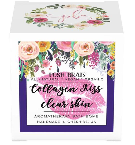 Collagen Kiss Clear Skin Aromatherapy Bath Bomb