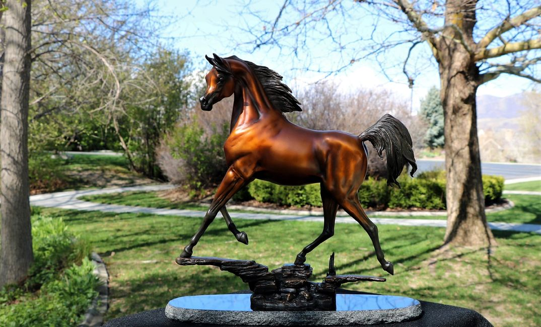 """Sirocco"", Arabian Bronze Sculpture is the perfect Equine bronze sculpture by   J. Anne Butler."