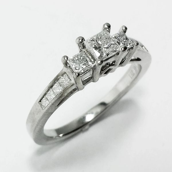 14k White Gold Three Stone Diamond Engagement Kay Jeweler Zei Rin Fine Estate Jewelry Rings Pendants Earrings Pendants More