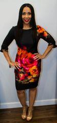 Classy Floral Print Dress