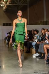 Green Fringe Bandage Dress