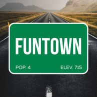 FUNTOWN comedy podcast featuring Todd McComas, Jeff Oskay and Austin Reel.