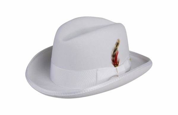 Deluxe Homburg in White #NHT25-70