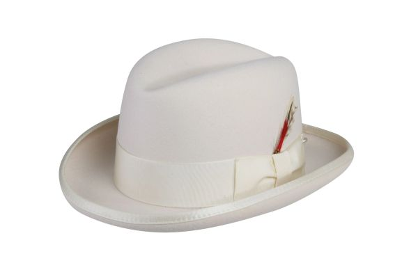 Deluxe Homburg in Ivory #NHT25-71