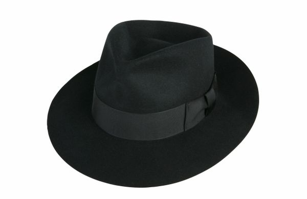 Jackson Fedora Hat in Black #NHT22W-01