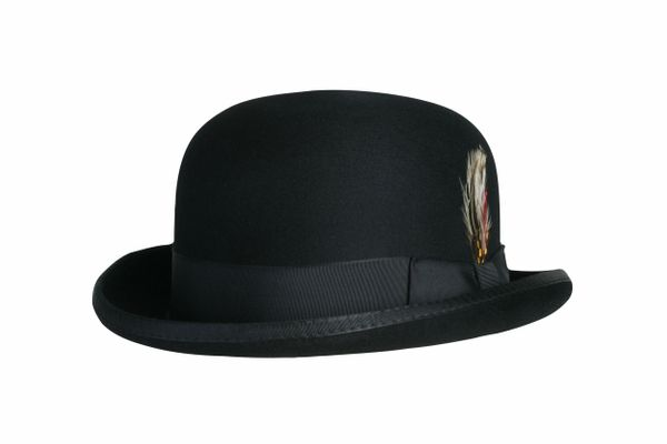 Deluxe Morfelt Derby Hat in Black #NHT31-01