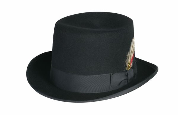 Deluxe Morfelt Top Hat in Black #NHT30-01