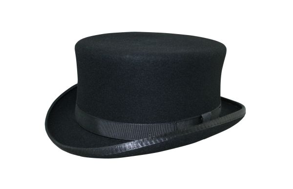 Stubby Coachman Top Hat in Black #NHT41-01