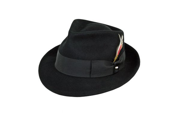 Basic Pinchfront Fedora Hat in Black #NHT126-01