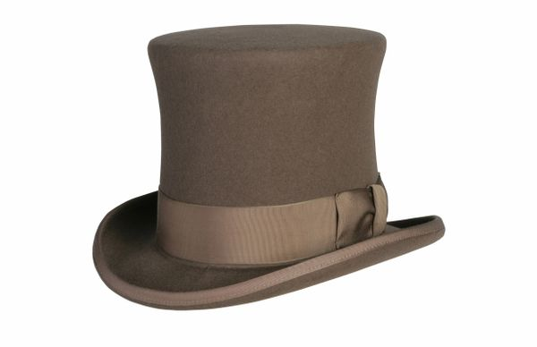 Original Victorian Squire Tall Top Hat in Pecan #NHT24-15