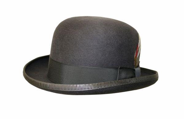 Deluxe Morfelt Derby Hat in Steel Grey #NHT31-02