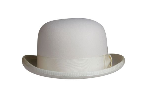 Classic Derby Hat in Ivory #NHT03-71