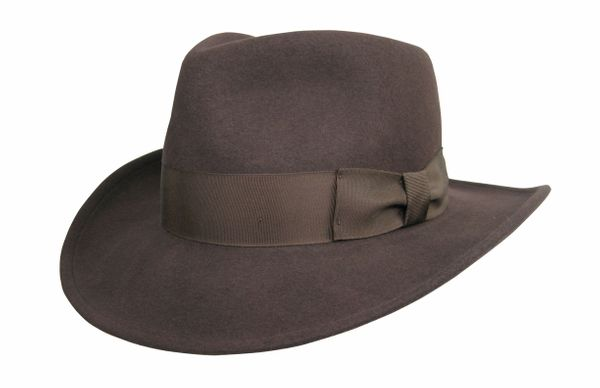 Basic Raider Fedora Hat in Brown #NHT138-99