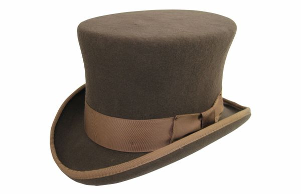 Prince Phillip Top Hat in Pecan #NHT36-15