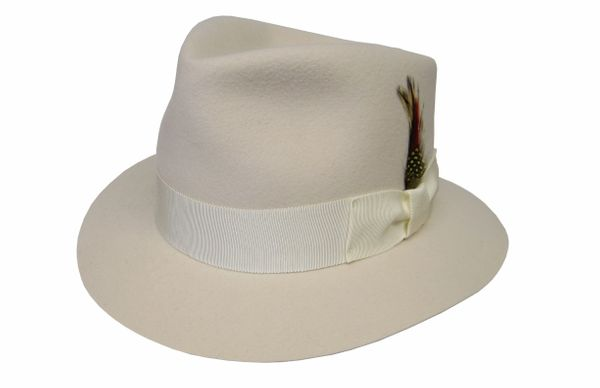 Cream Royale Fedora Hat in Ivory #NHT22N-71