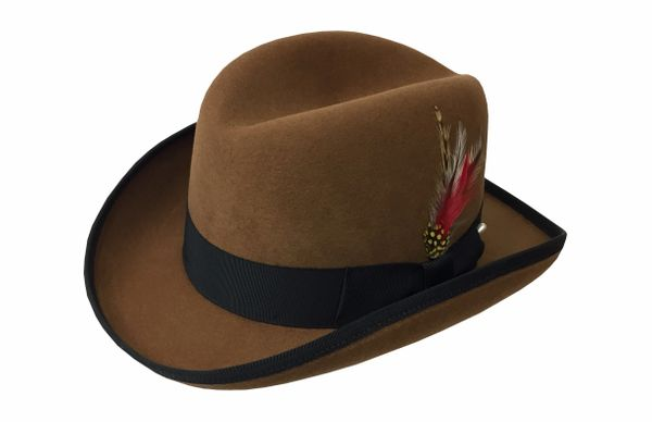 Deluxe Homburg in Whiskey with Black Band #NHT25-94B