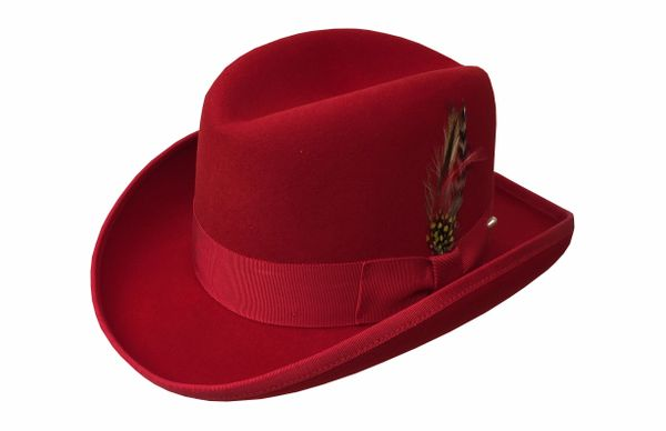 Deluxe Homburg in Scarlet Red #NHT25-55