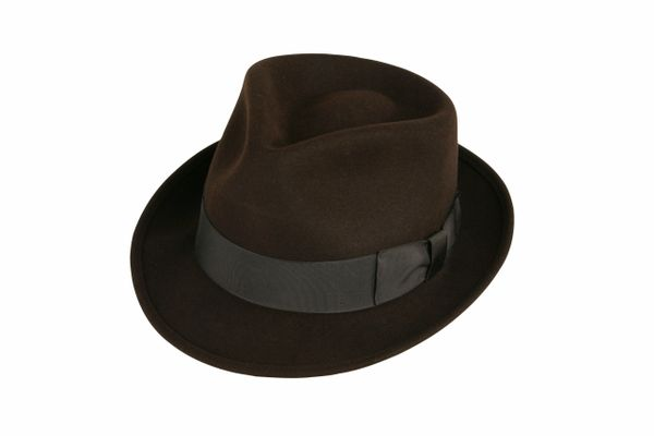 Deluxe Pinchfront Fedora Hat in Fall Brown #NHT26-99