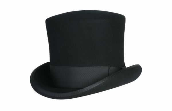 Victorian Caroler Tall Top Hat in Black #NHT18-01