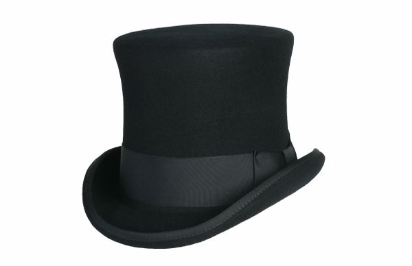 Victorian Squire Tall Top Hat in Black #NHT24-01