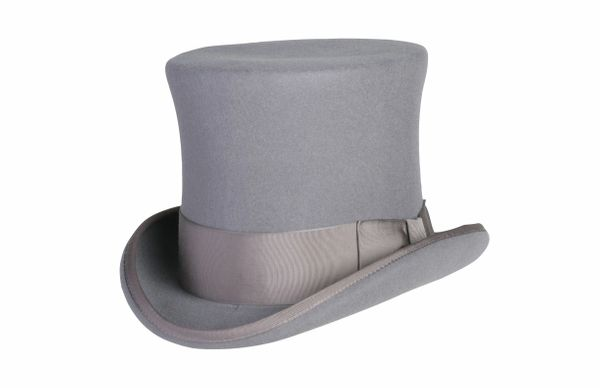 Victorian Squire Tall Top Hat in Heather Grey #NHT24-02